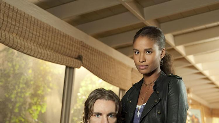 "Dax Shepard as Crosby Braverman and Joy Bryant as Jasmine in ""Parenthood."""