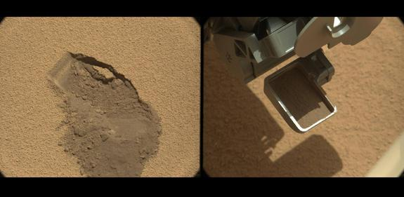 Curiosity Rover Resumes Eyeing 1st Scoop of Mars Dirt