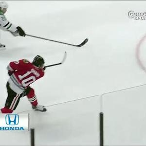 Sharp blasts one top-shelf on Lehtonen
