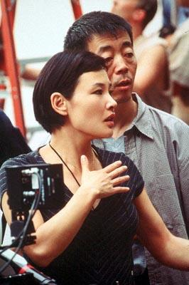 Director Joan Chen and Director of Photography Changwei Gu on the set of MGM's Autumn In New York