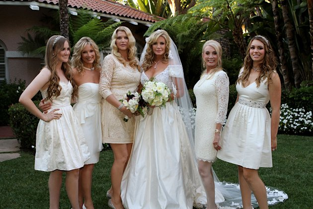 "Shannon Tweed and her bridesmaids on ""Gene Simmons Family Jewels."""