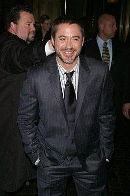 Robert Downey Jr. at the New York City premiere of Paramount Pictures' Iron Man