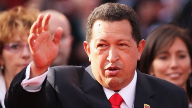 Venezuelan President Hugo Chavez attends the Venice Film Festival in 2009.
