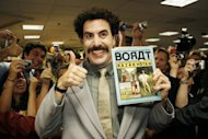 Borat Sagdiyev, played by actor Saha Baron Cohen, attends a signing in Los Angeles for a Borat book. Kazakhstan&#39;s foreign minister on Monday thanked &quot;Borat,&quot; the Sacha Baron Cohen comedy that the Central Asian nation once banned for lampooning its people, for massively boosting its tourism