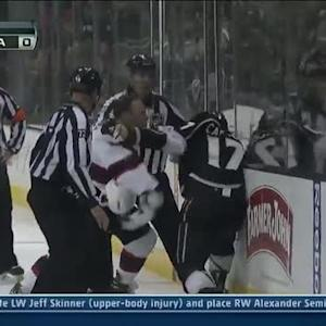 Cam Janssen and Dan Carcillo scrap