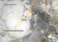 When NASA&#39;s Terra satellite passed over Depression Sonamu on Jan. 3 at 9:13 a.m. EST/US the center was approaching southern Palawan.