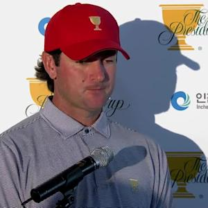 Bubba Watson comments before the The Presidents Cup