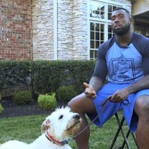 Man's Best Friend: Tennessee Titans tight end Delanie Walker