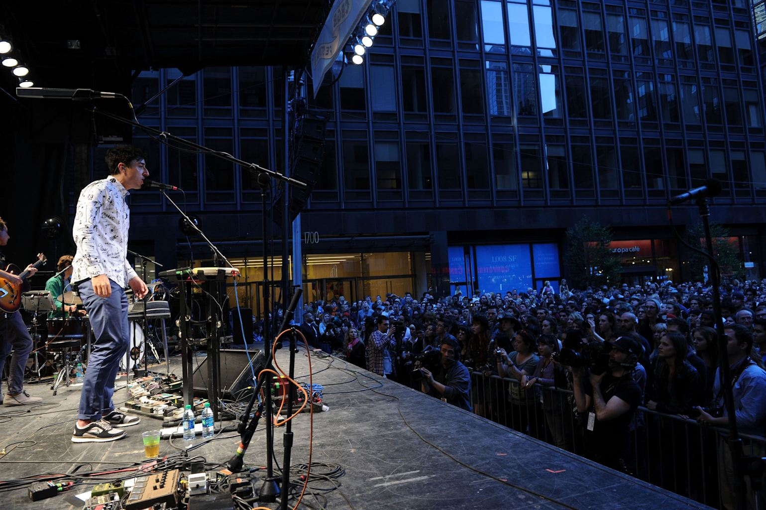 12: edward droste and grizzly bear perform during cbgb music &; film