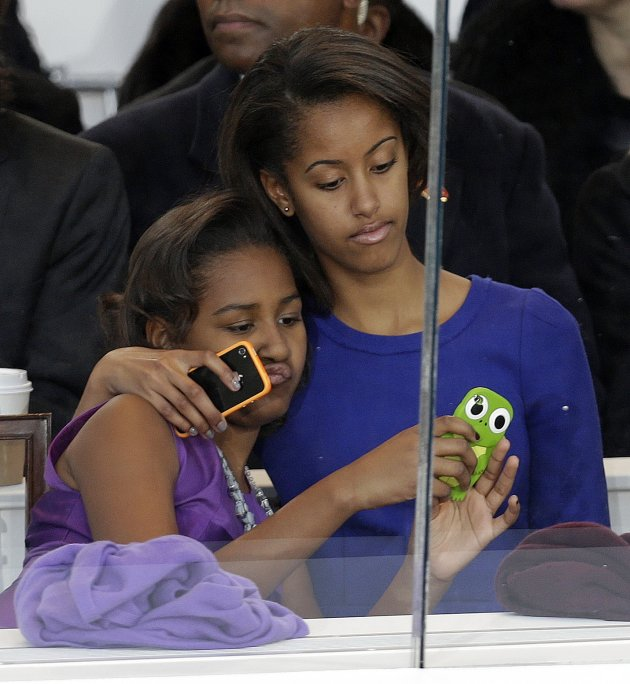 Malia Obama, right, and Sasha …