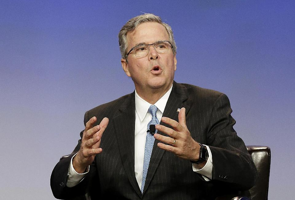FILE - In this Jan. 23, 2015 file photo, former Florida Gov. Jeb Bush speaks in San Francisco.  Mitt Romney's exit from the 2016 race for president...
