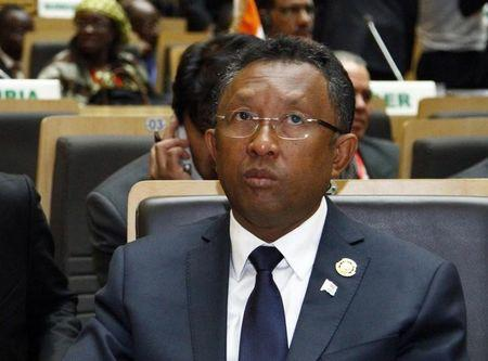Madagascar's President Hery Rajaonarimampianina attends the opening ceremony of the 22nd Ordinary Session of the African Union summit in Addis Ababa