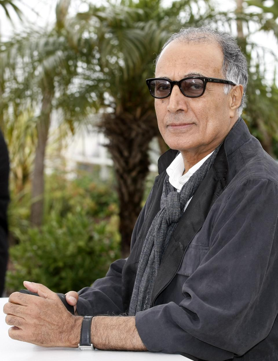 Director Abbas Kiarostami poses during a photo call for Like Somone in Love at the 65th international film festival, in Cannes, southern France, Monday, May 21, 2012. (AP Photo/Lionel Cironneau)