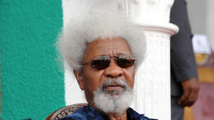 Nigerian Nobel Laureate Wole Soyinka in Enugu, southeastern Nigeria on March 1, 2012