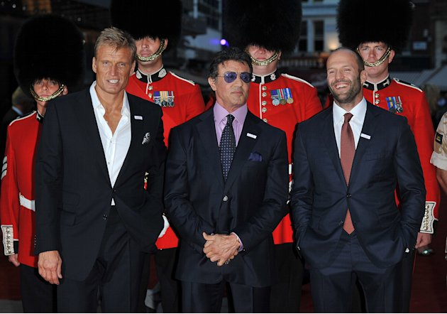 The Expendables UK Premiere 2010 Dolph Lundgren Sylvester Stallone Jason Statham