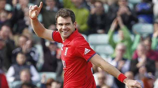 England's James Anderson celebrates (AFP)