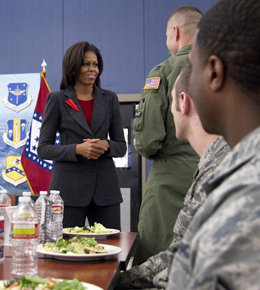 "Outrageous Michelle Obama Forces US Military to eat ""Salad Rations"""