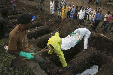 Ebola crisis could last through 2015 as marks year since outbreak-expert-TRFN