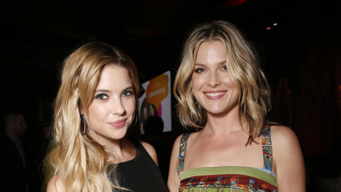 Ashley Benson and Ali Larter attend the 24th Annual GLAAD Media Awards at the JW Marriott on Saturday, April 20, 2013 in Los Angeles. (Photo by Todd Williamson/Invision/AP)