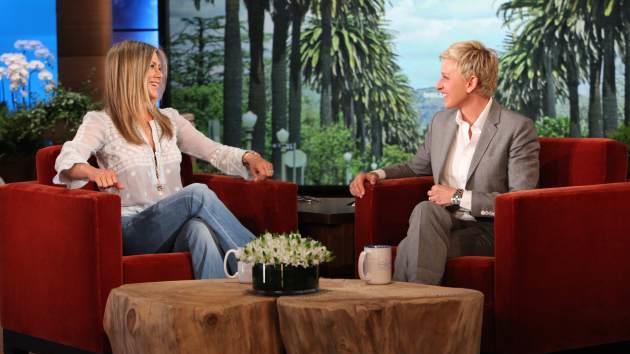 Jennifer Aniston makes an appearance on 'The Ellen DeGeneres Show' on April 18, 2013  -- Michael Rozman/Warner Bros