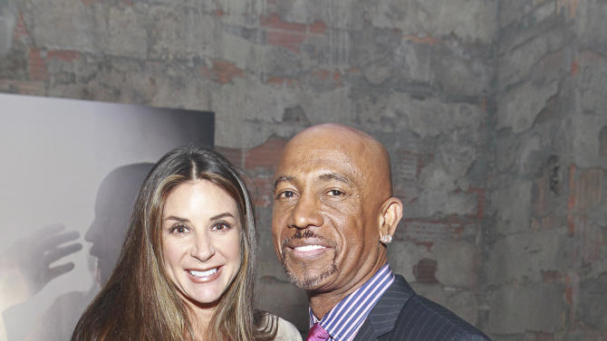 Montel Williams and wife Tara Fowler attend the celebration of theApril 2Blu-ray, DVD, and Digital HD releaseof THE BIBLEfrom Twentieth Century Fox Home Entertainment  during The Bible Experience opening night gala, a rare exhibit of biblical artifacts on Tuesday, March 19 in New York. (Photo by Mark Von Holden/Invision for Fox Home Entertainment/AP Images)