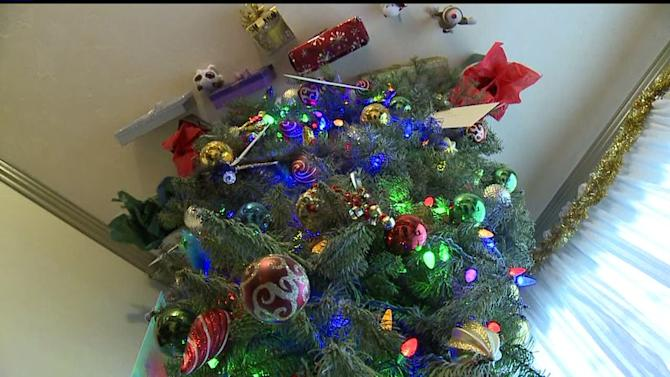 Chula Vista Woman Hangs Christmas Tree Upside Down