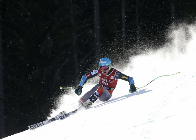 Ted Ligety of the U.S. competes during the FIS Ski World Cup men's Super-G race in Kvitfjell