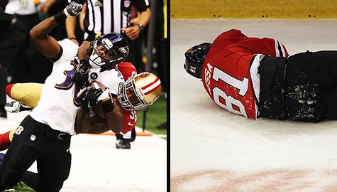 Concussions: NFL tackle and Marian Hossa