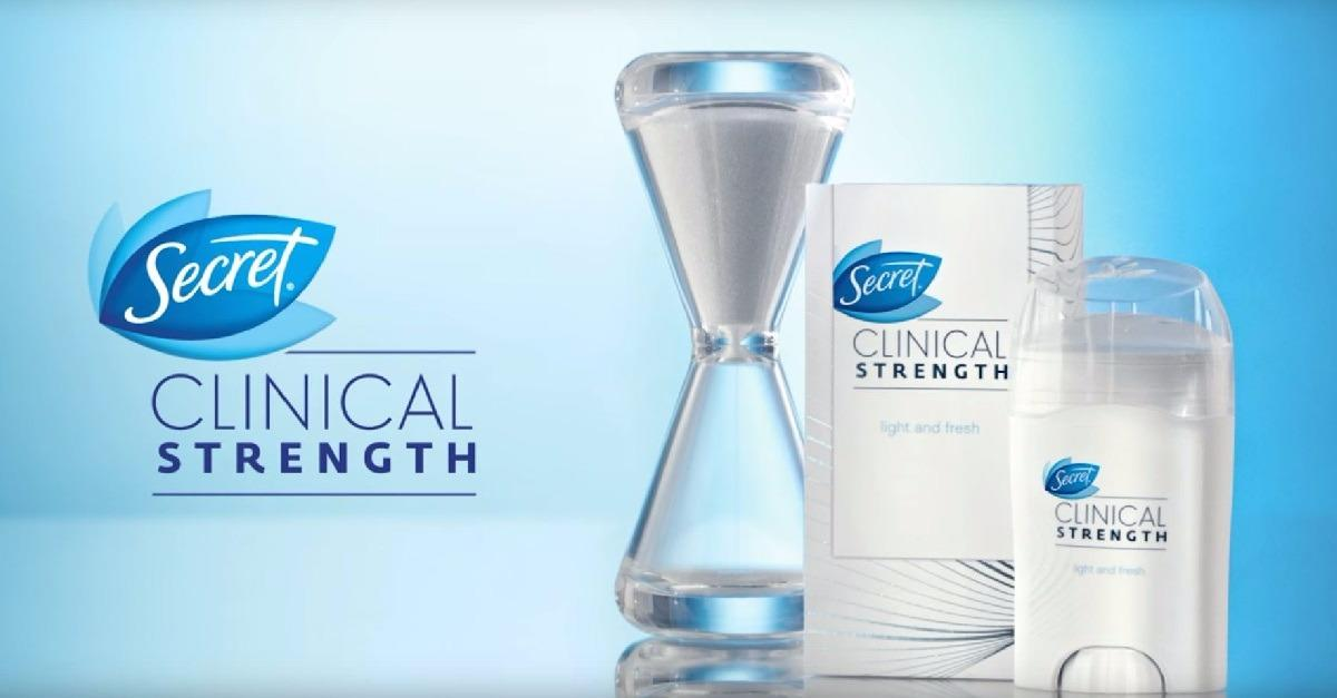 Use Secret® Clinical For Sweat & Odor Protection!
