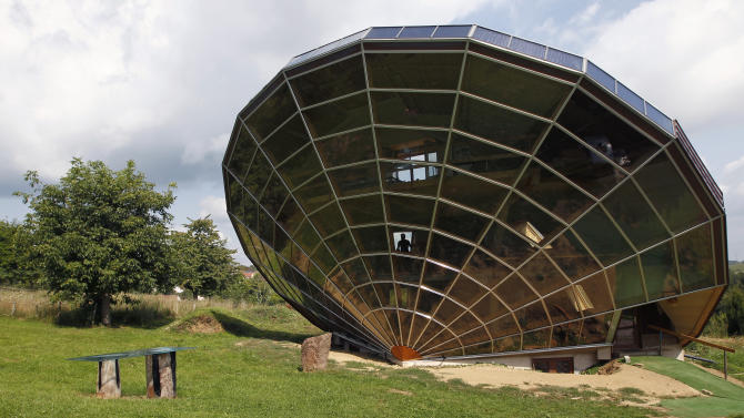 The Heliodome, a bioclimatic solar house is seen in Cosswiller in the Alsacian countryside near Strasbourg