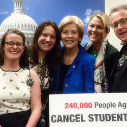 Sen. Warren Receives 240,000 Signatures Asking to Cancel All to Student Debt