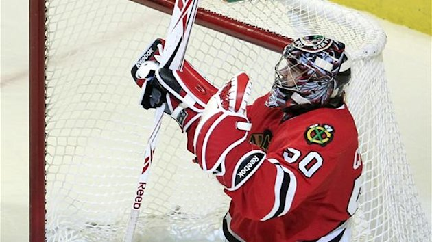 2011-12 NHL Chicago Blackhawks' goalie Corey Crawford