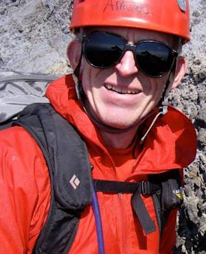 This photo provided by the Clackamas County Sheriff's Office shows missing climber Kinley Adams. Adams, a 59-year-old dentist from Salem, was reported missing by relatives on Saturday night, June 22, 2013, roughly six hours after his expected return from a climb on the west side of Mount Hood. His vehicle was still on the mountain at Timberline Lodge. (AP Photo/Clackamas County Sheriff's Office)