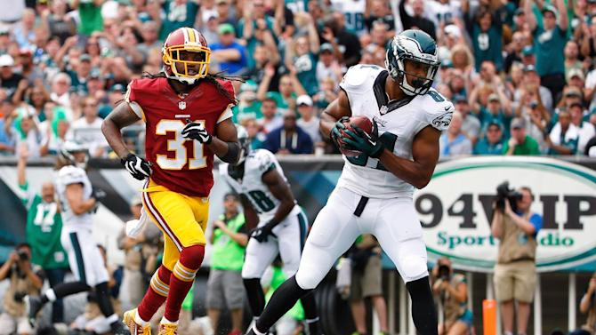 Matthews, Maclin lead Eagles over Redskins 37-34