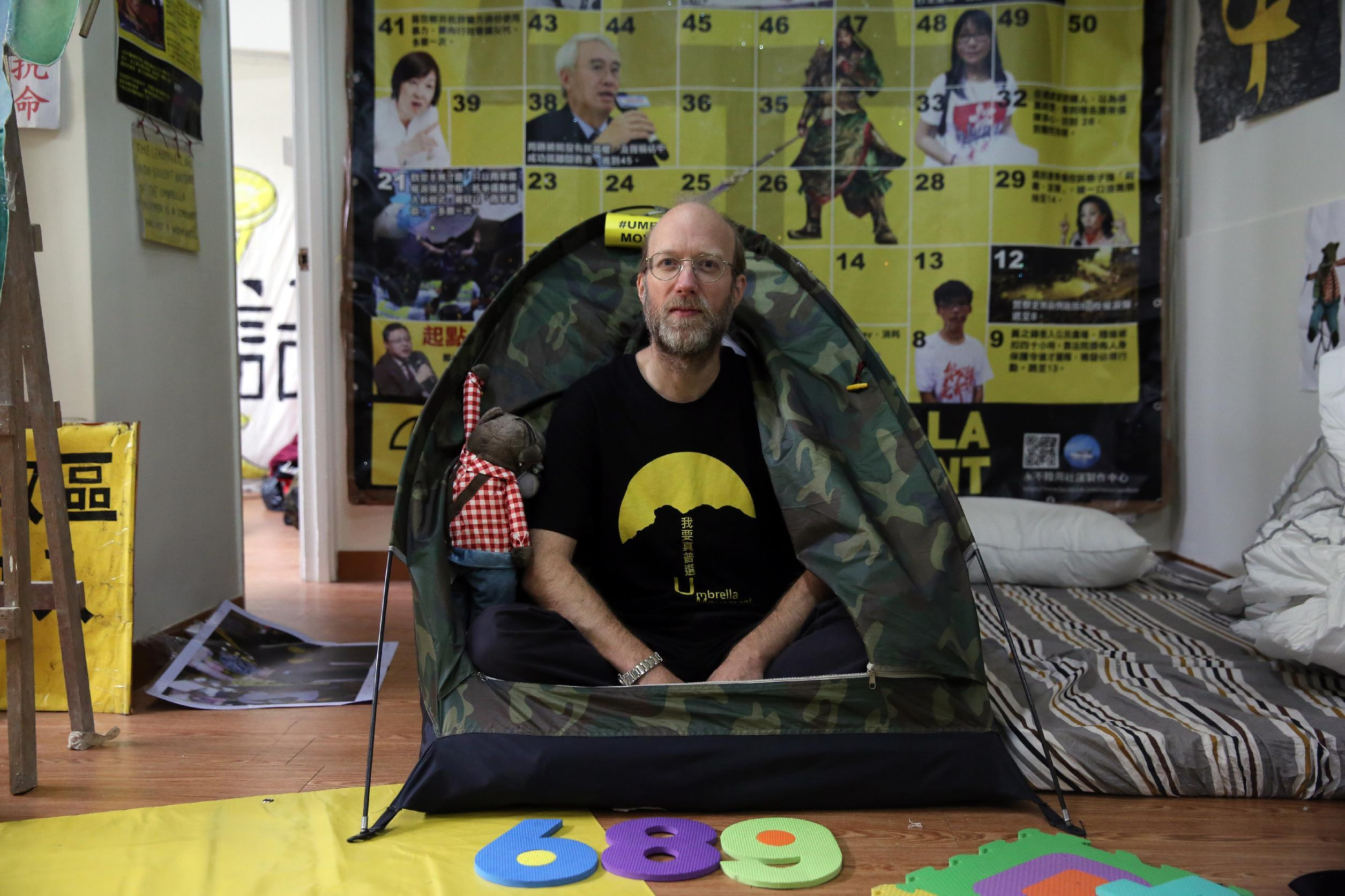 Hong Kong 'Occupy hotel' recreates protest camp for guests