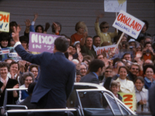 Super 8 footage shows 'dorky' side of Nixon's ruthless administration