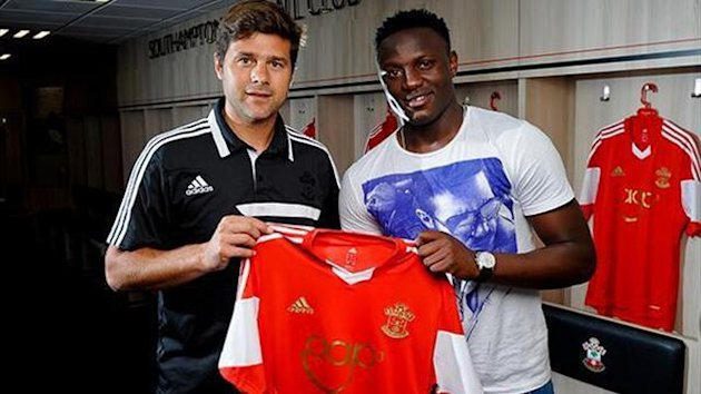 Southampton manager Maurizio Pochettino and midfielder Victor Wanyama (saintsfc.co.uk)