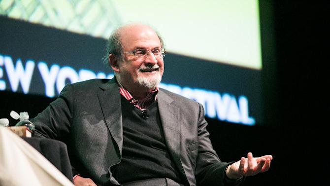 This Oct. 7, 2012 photo released by The New Yorker Festival shows author Salman Rushdie during The New Yorker Festival in New York. (AP Photo/The New Yorker Festival, Todd France)
