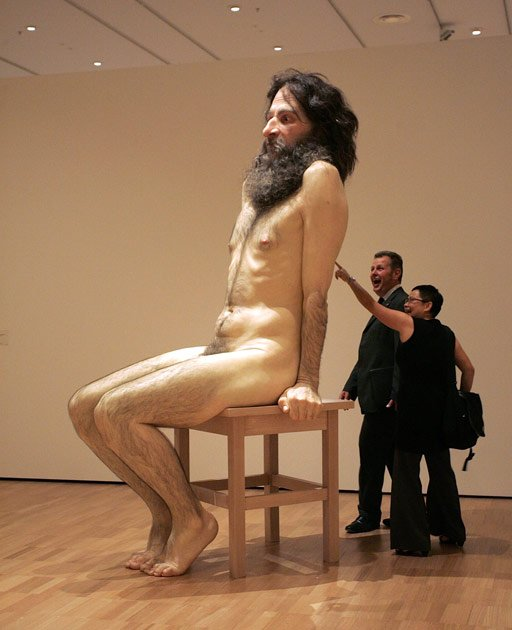 Ron Mueck's lifelike sculptures