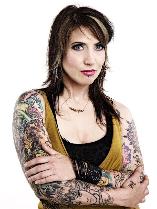 Tattoo artist, Hannah Aitchison in L.A. Ink. 