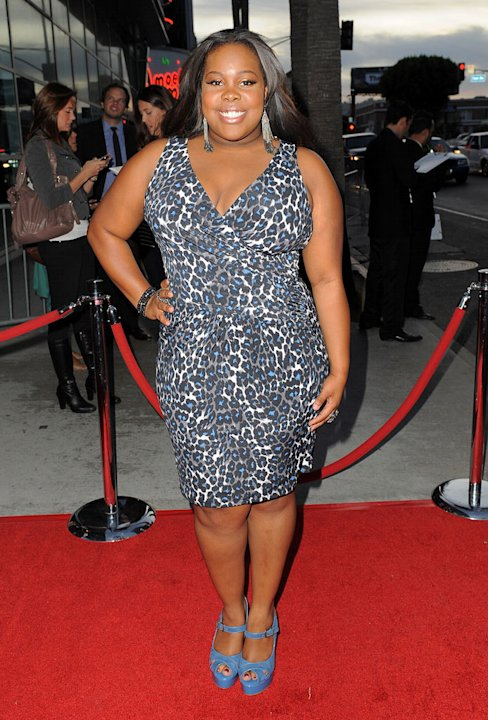 "Amber Riley arrives at the premiere of FX's ""American Horror Story"" at the ArcLight Cinemas Cinerama Dome on October 3, 2011 in Hollywood, California."
