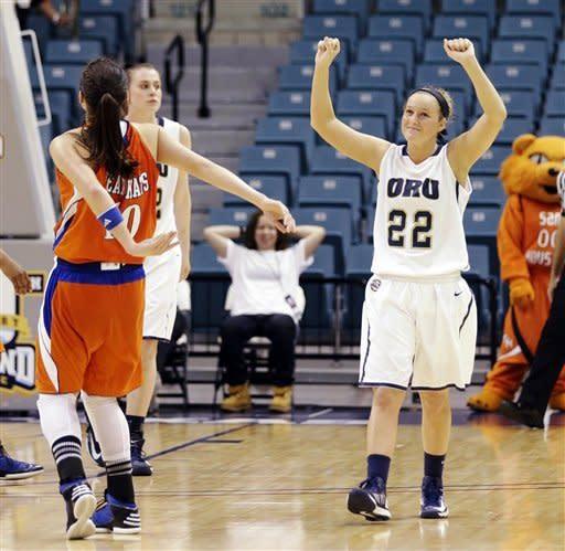 Oral Roberts women beat SHSU 72-66, win Southland