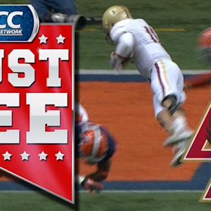 BC's Chase Rettig Dives Into Endzone For Touchdown | ACC Must See Moment