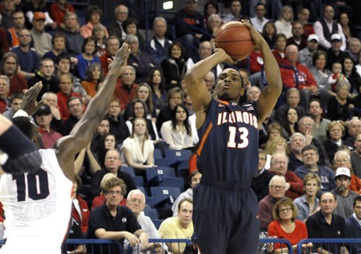 No. 13 Illinois beats No. 10 Gonzaga 85-74