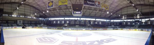 Panoramic view of Jaromir Jagr's Kladno arena (#NickInEurope)