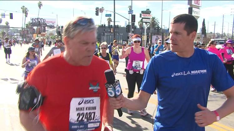 L.A. Marathon: A Father Pays Tribute to His Son By Running