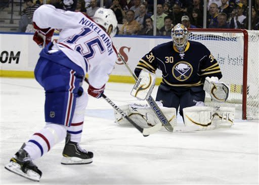 Miller stops 34 in Sabres' 3-0 win over Canadiens