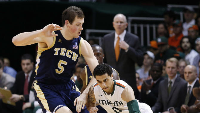NCAA Basketball: Georgia Tech at Miami