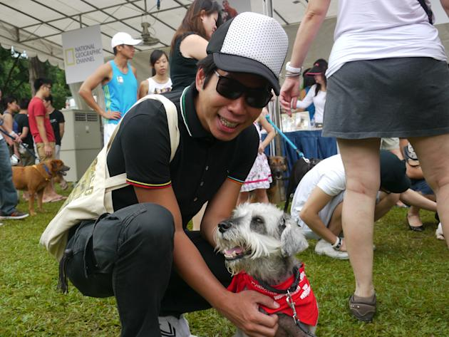 Funnyman Chua En Lai lends his support to the event (Yahoo! Photos/Clarence Chen)