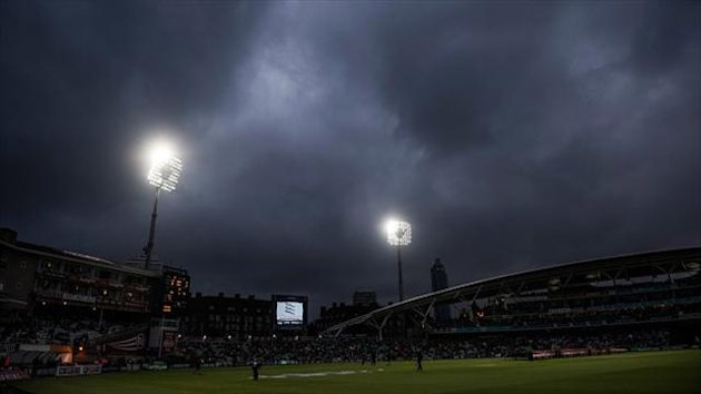 Only two deliveries were possible in England's second T20 clash with New Zealand